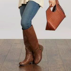 Just Fab Tall Brown Boots
